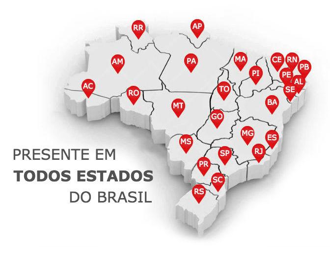 presente em todos os estados do brasil